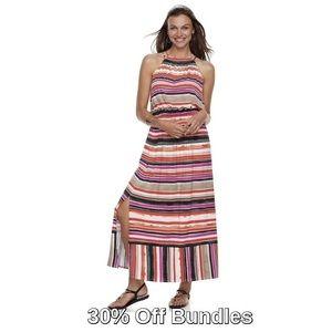 Apt. 9 | Strappy Blouson Maxi Dress | Stripe